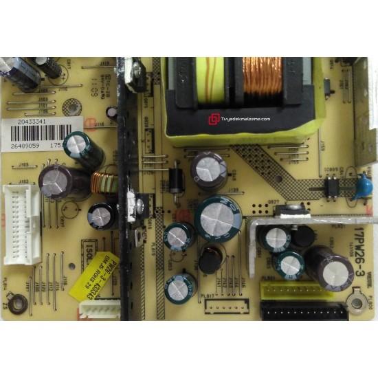 17PW26-3, 20433341, 20543464, 20453122, 20487733, 23021673, VESTEL, Power Board