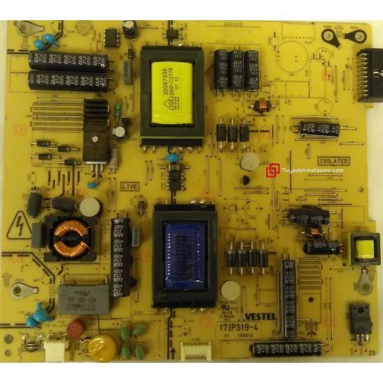 17IPS19-4, 23077843, Power Board, Besleme Kartı, VESTEL 40PF7014