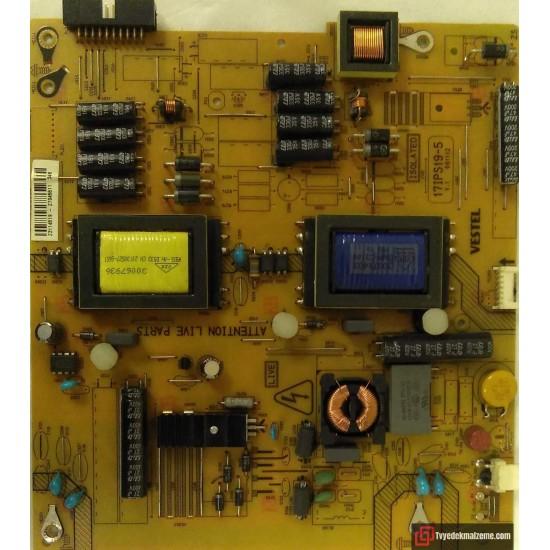 17IPS19-5, V.1 061112, 23114519, Vestel, Power Board, Besleme Kartı