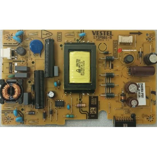 17IPS61-5, 050819 V.1, 23398449, 23402054, Vestel, Power Board, Besleme Kartı